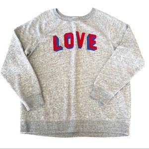 Old Navy Love Crewneck Sweatshirt Heathered Gray L